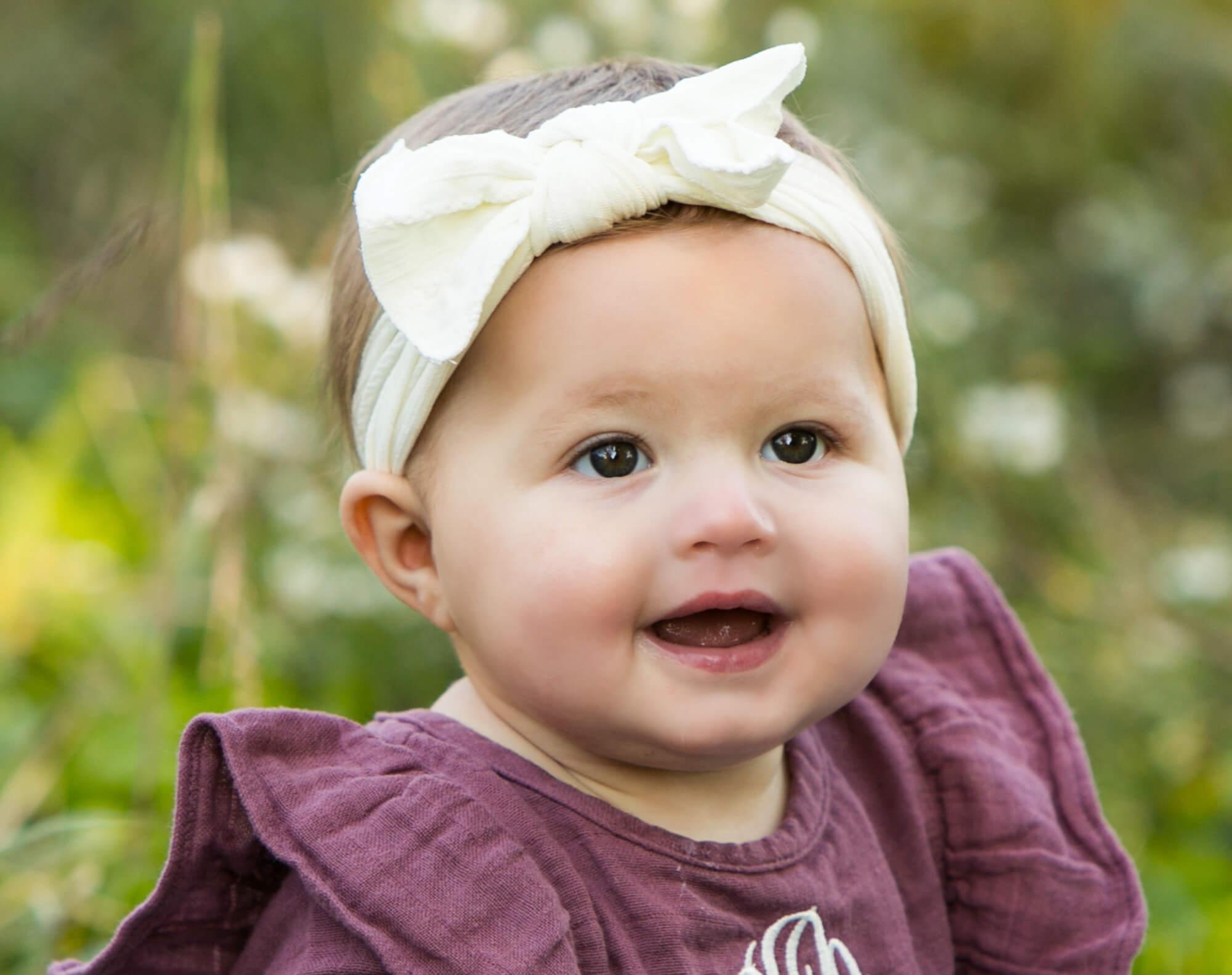 Garden photo of baby portrait