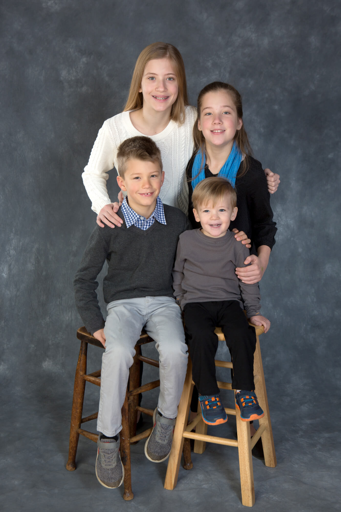 In Studio Portrait session with Siblings