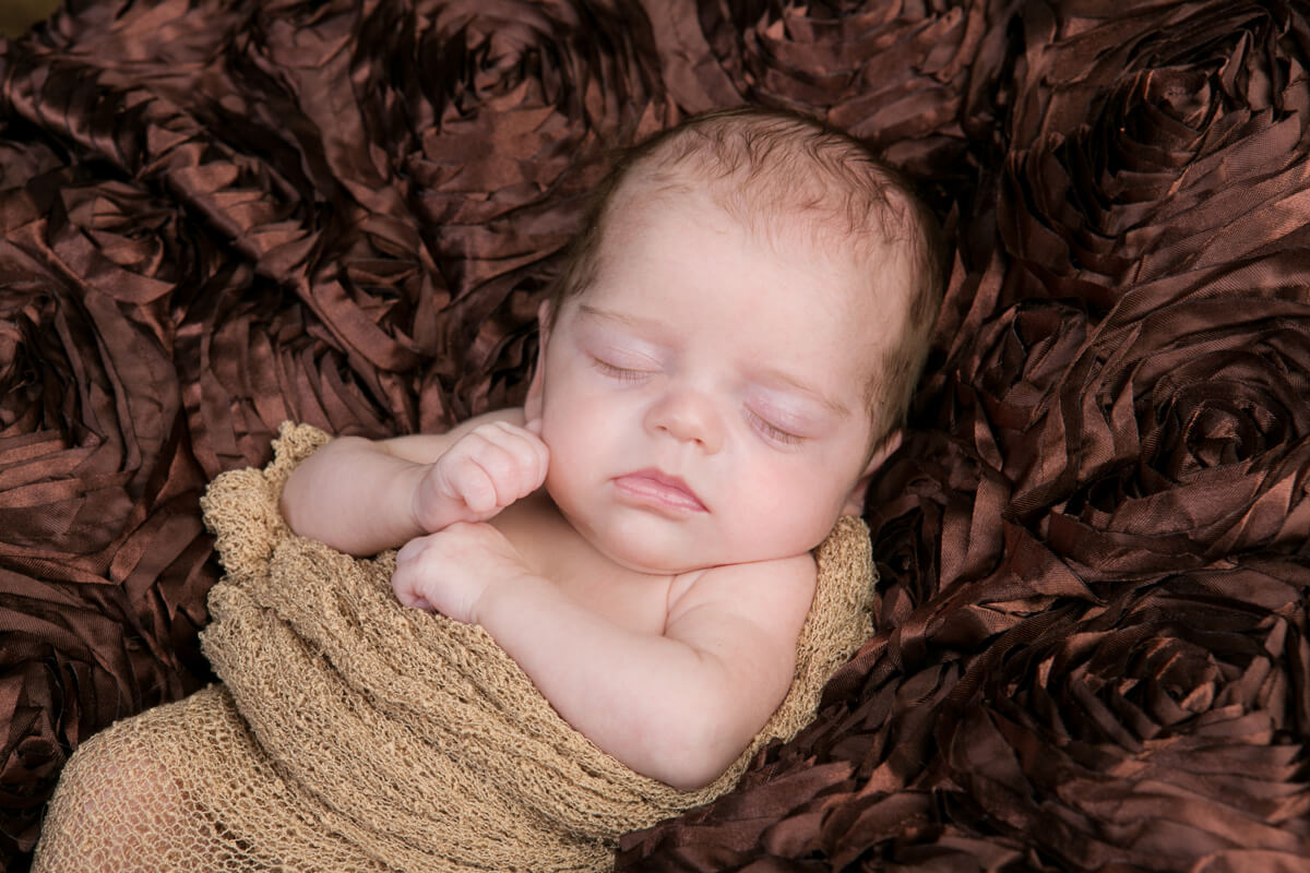 Sleeping baby portrait