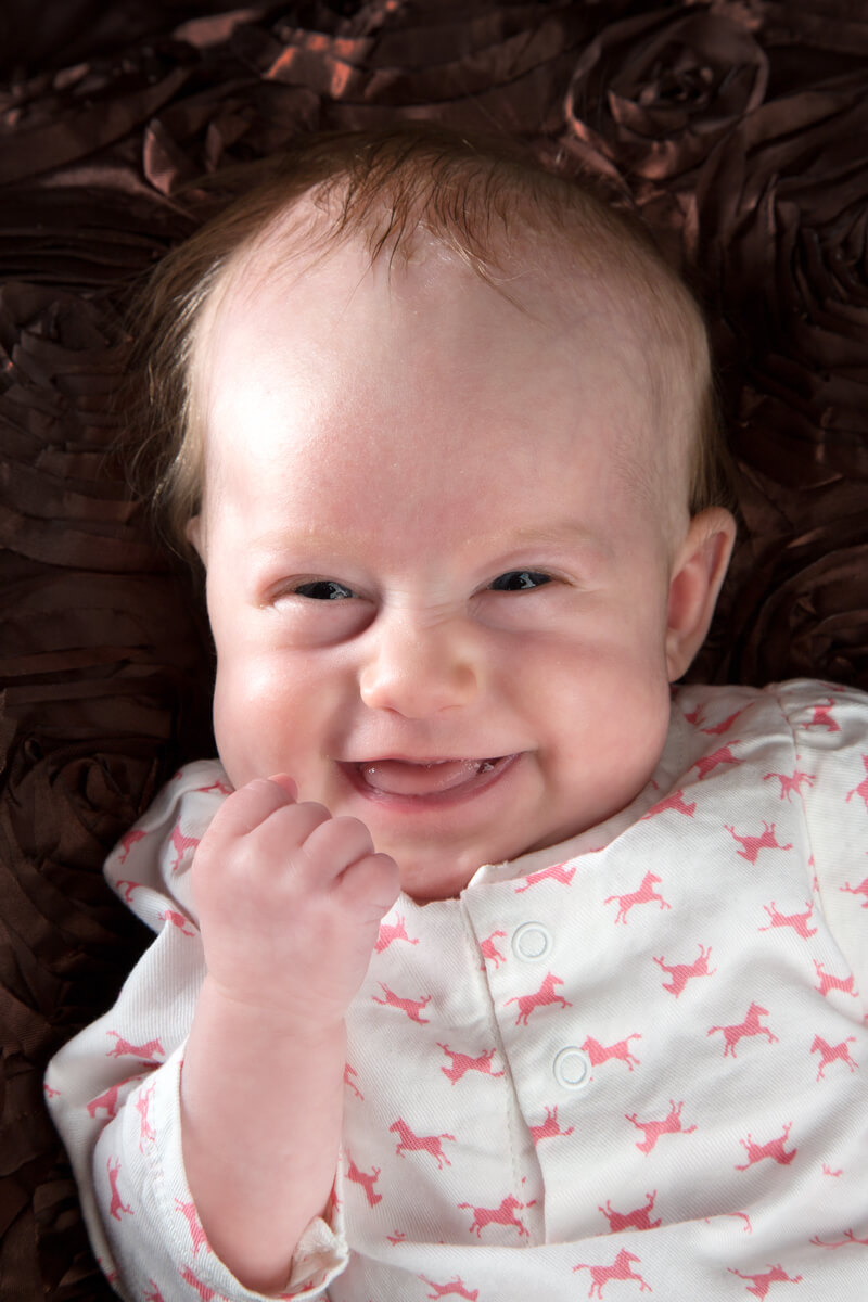 baby portrait with expression