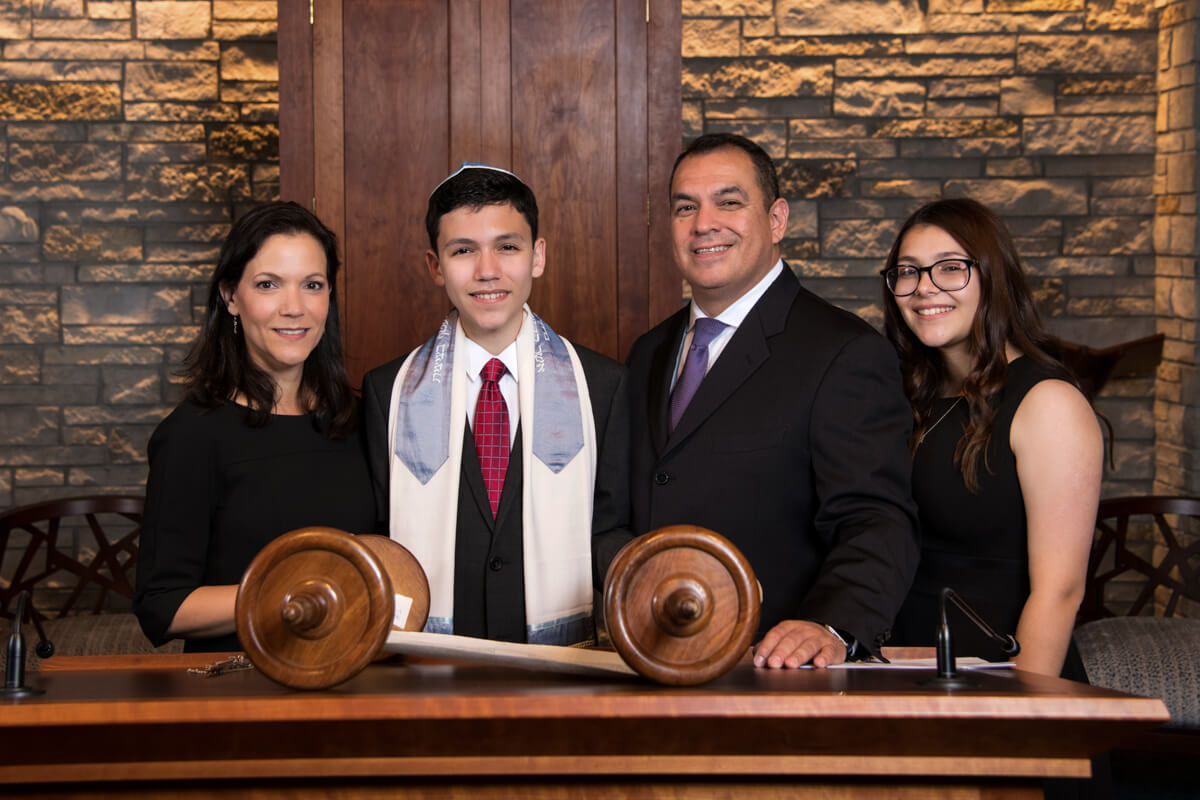 Professional Family Portrait at Bar Mitzvah