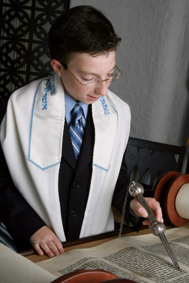 Candid Portrait reading torah