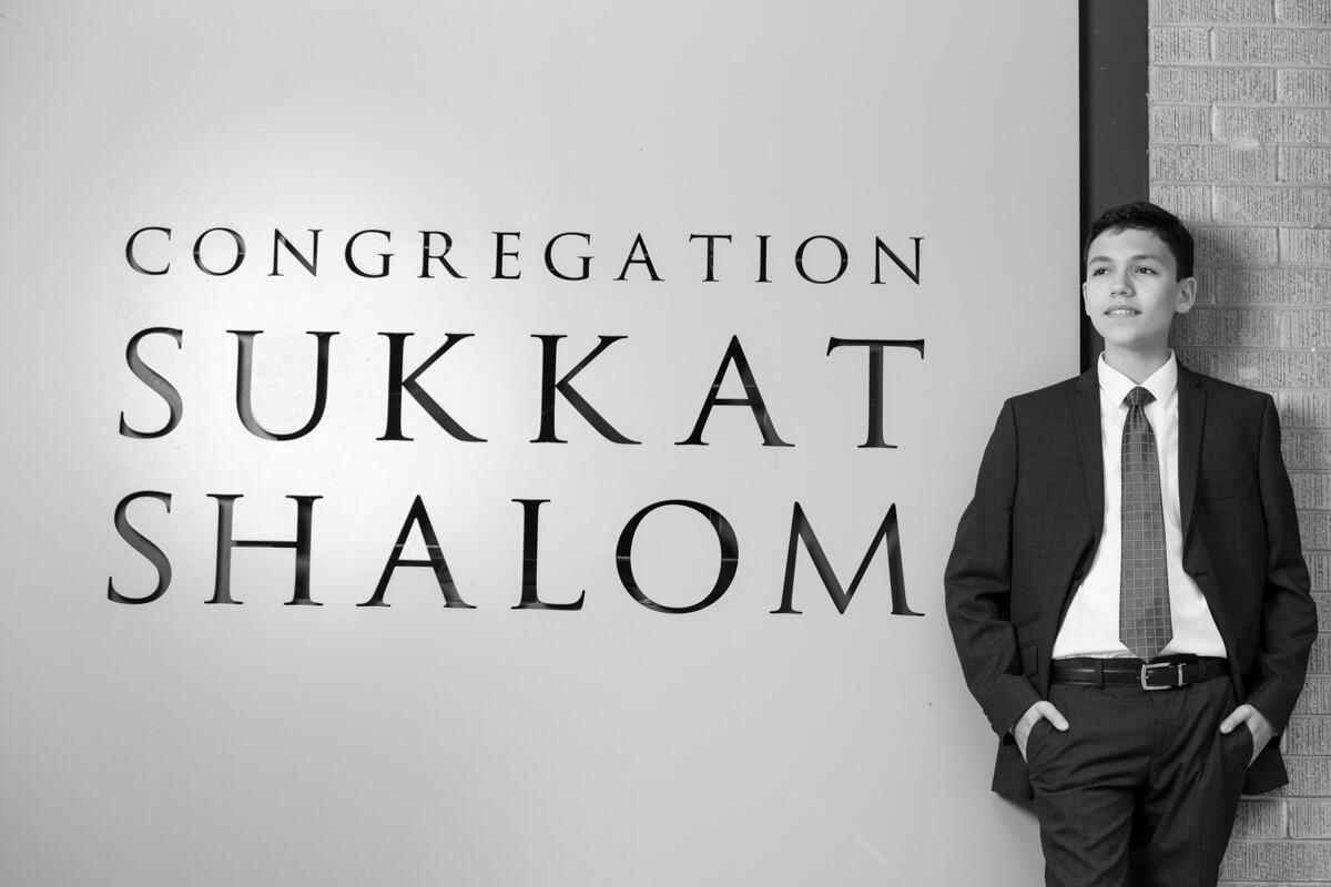 Creative black and white photo at Sukkat Shalom