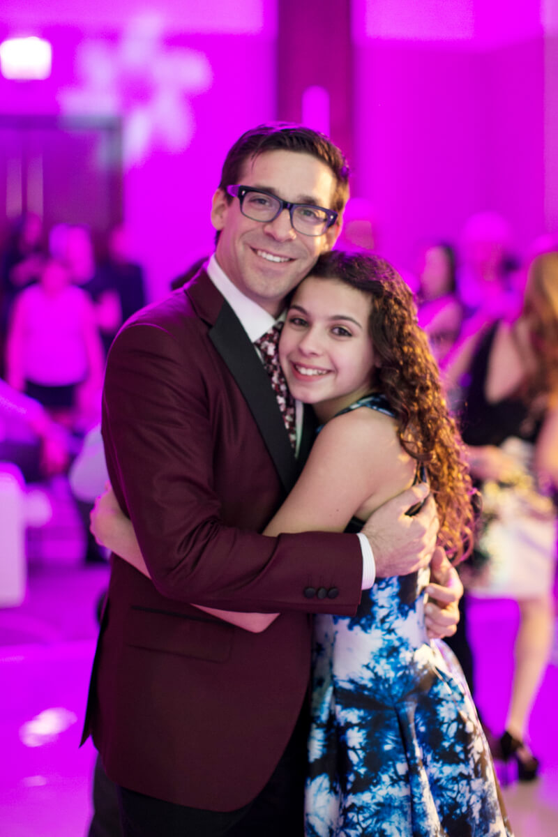 Father daughter dance at Mitzvah reception