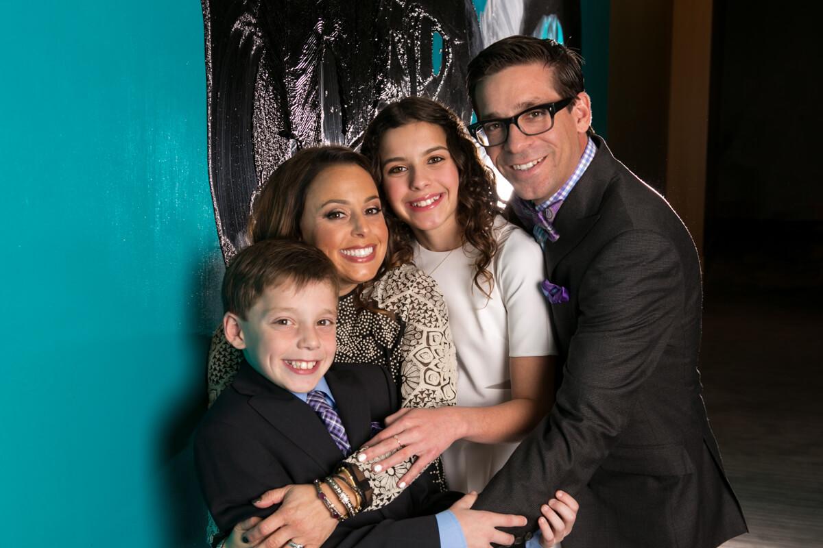 Family Portrait at Bat Mitzvah Reception