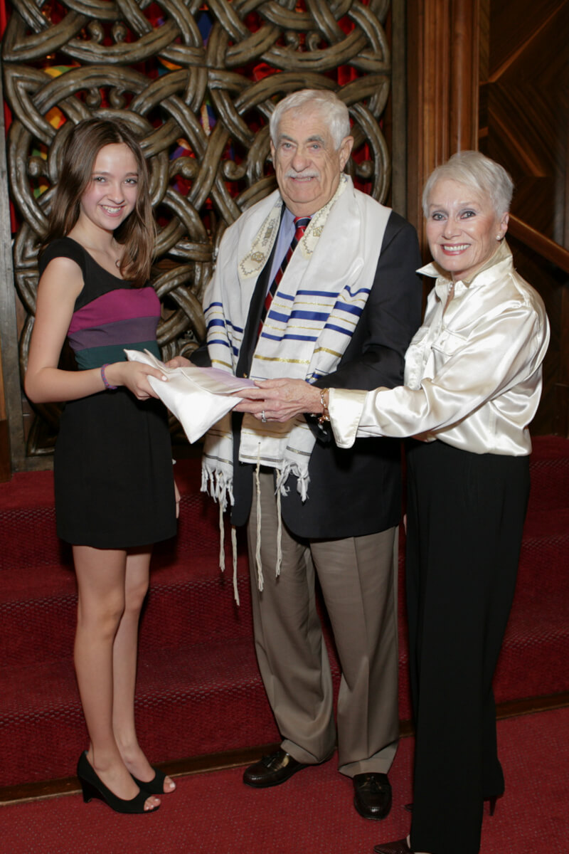 Professional portrait with Grandparents at Bat Mitzvah