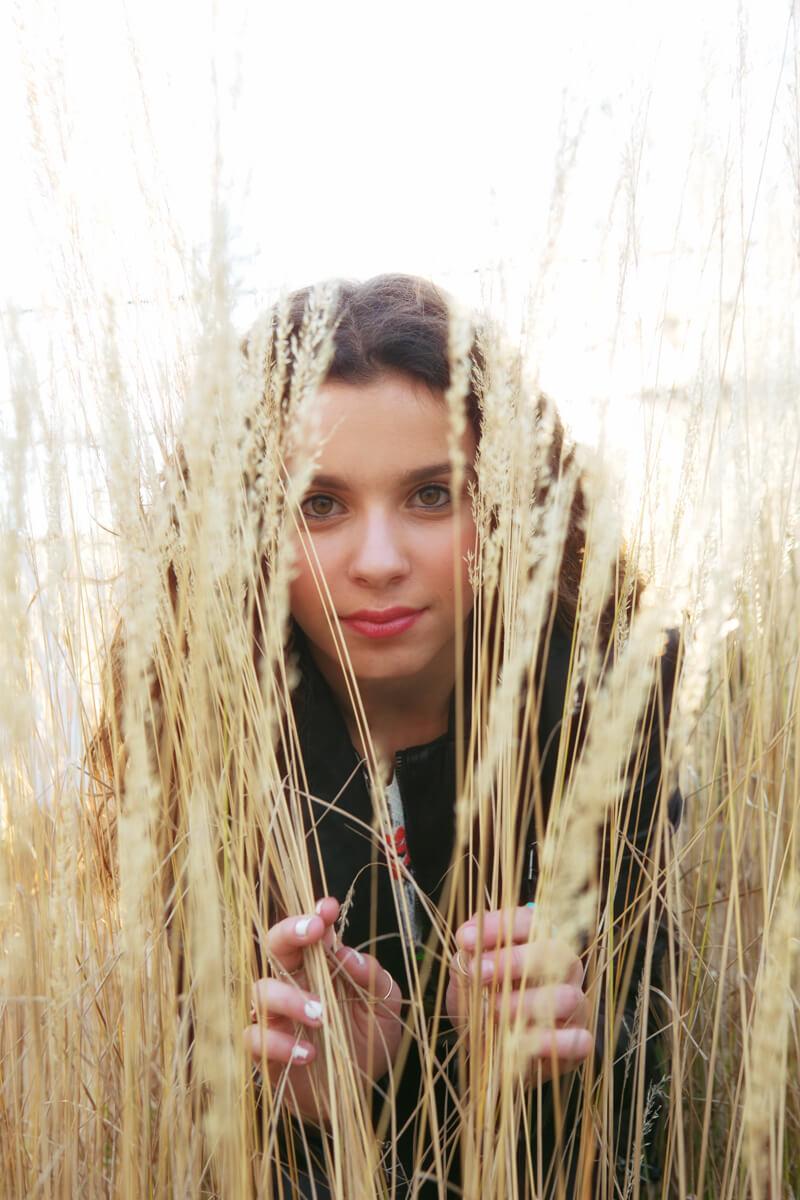 Creative Personality Portrait of teen girl