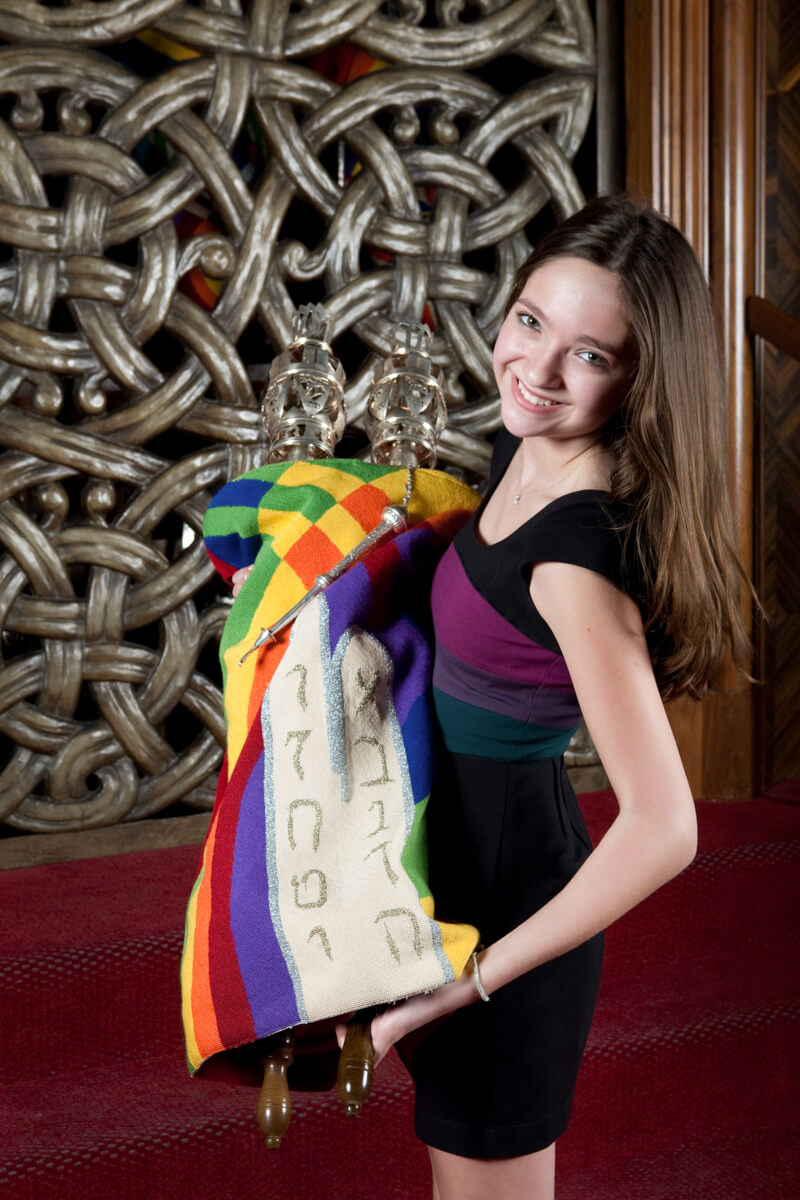 Portrait with a Torah for Bat Mitzvah
