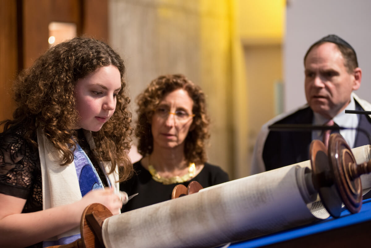 Reading the torah at a Bat Mitzvah