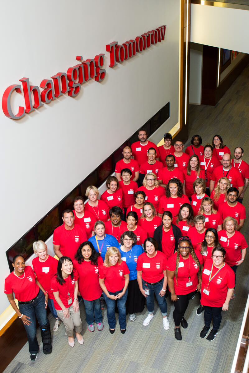 Company group photo on Volunteer Day