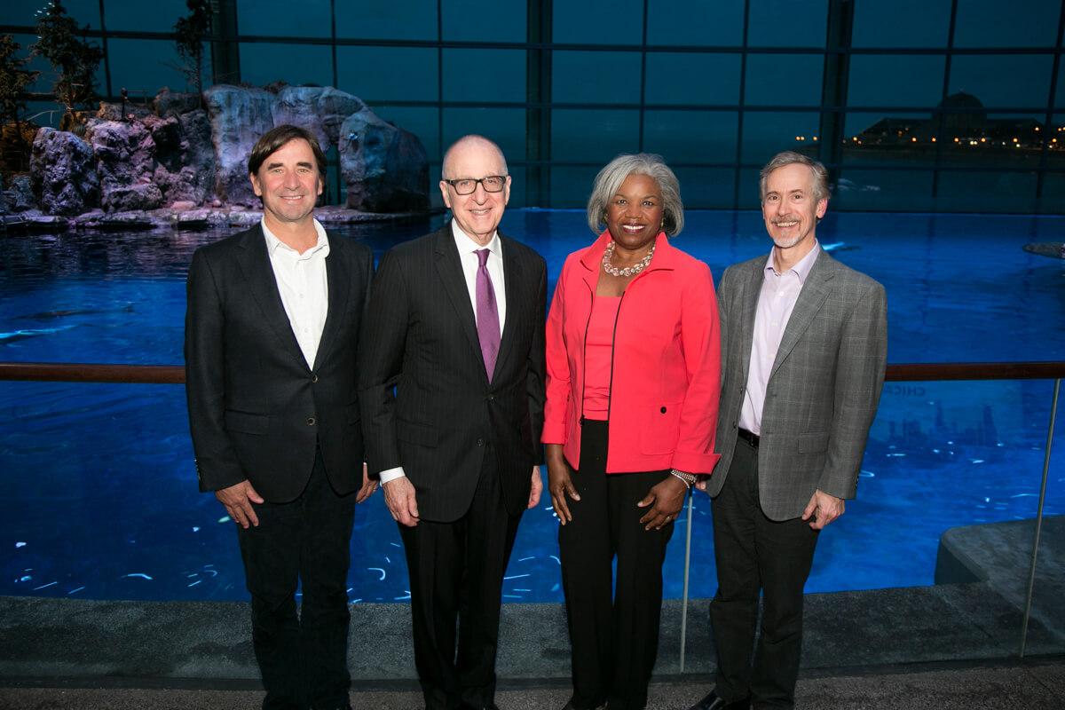 Corporate Group Photo at Chicago's Shedd Aquarium
