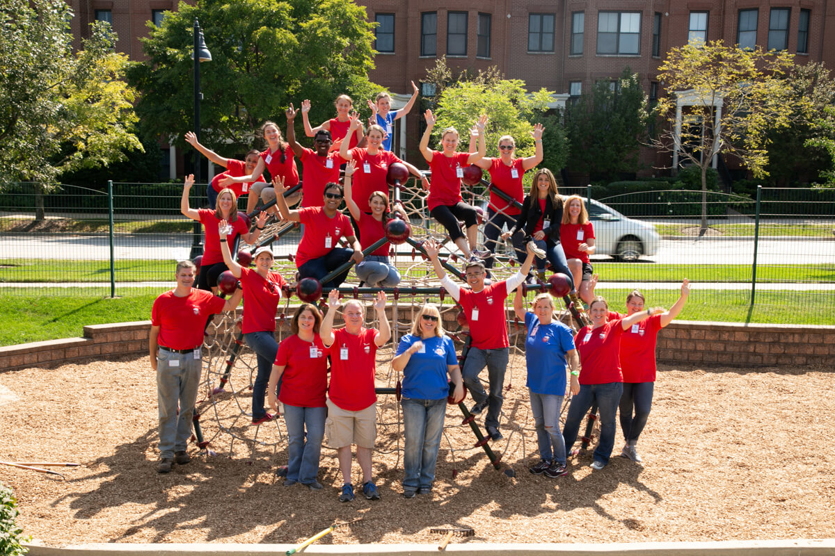 Corporate photography of Volunteer Day