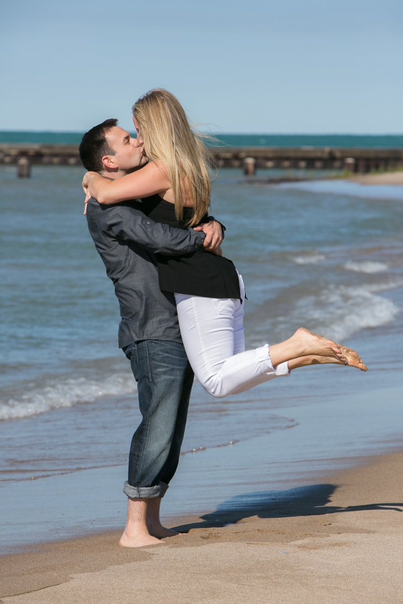 Chicago Beach Engagement Session