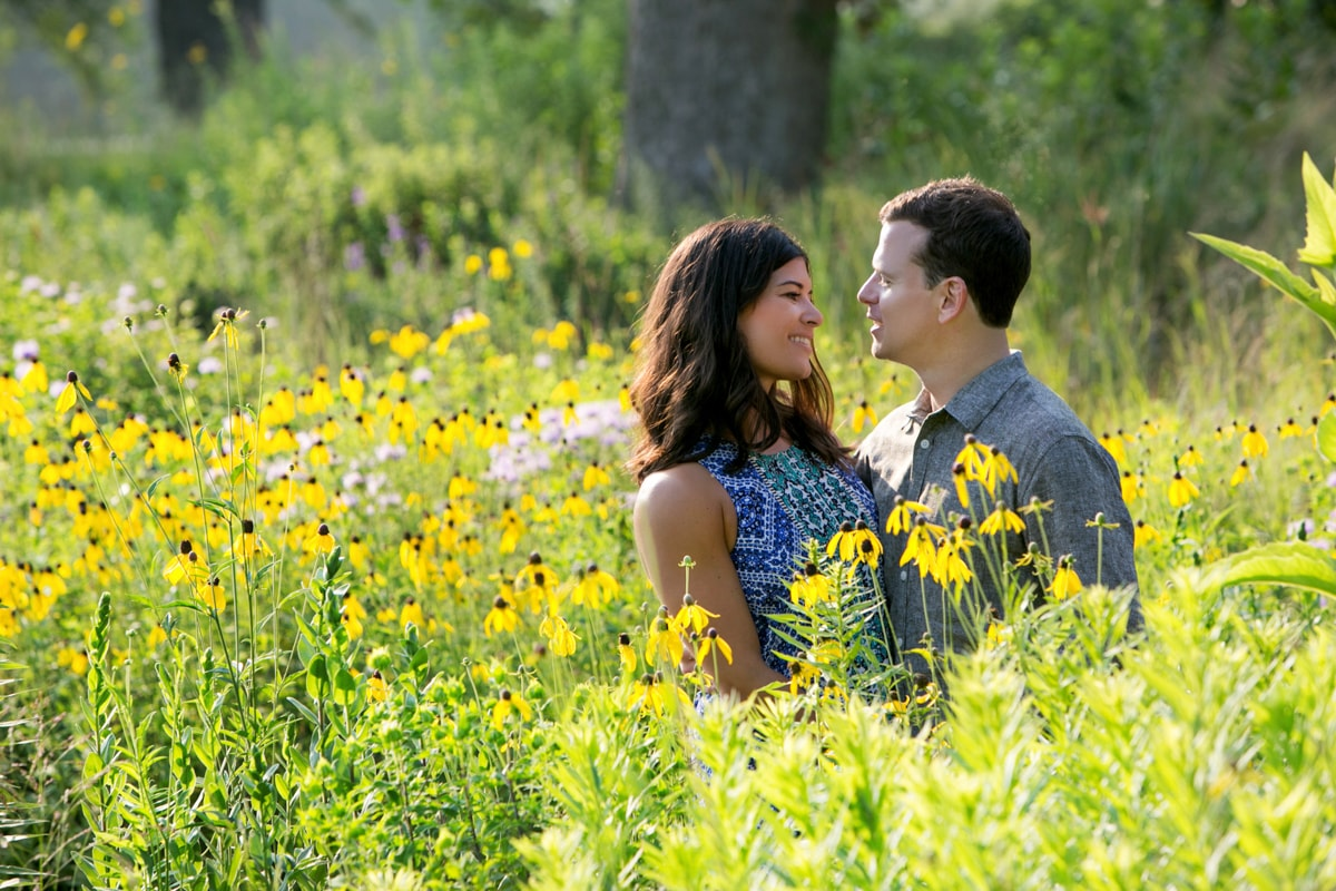 Beautiful Floral Engagement Session