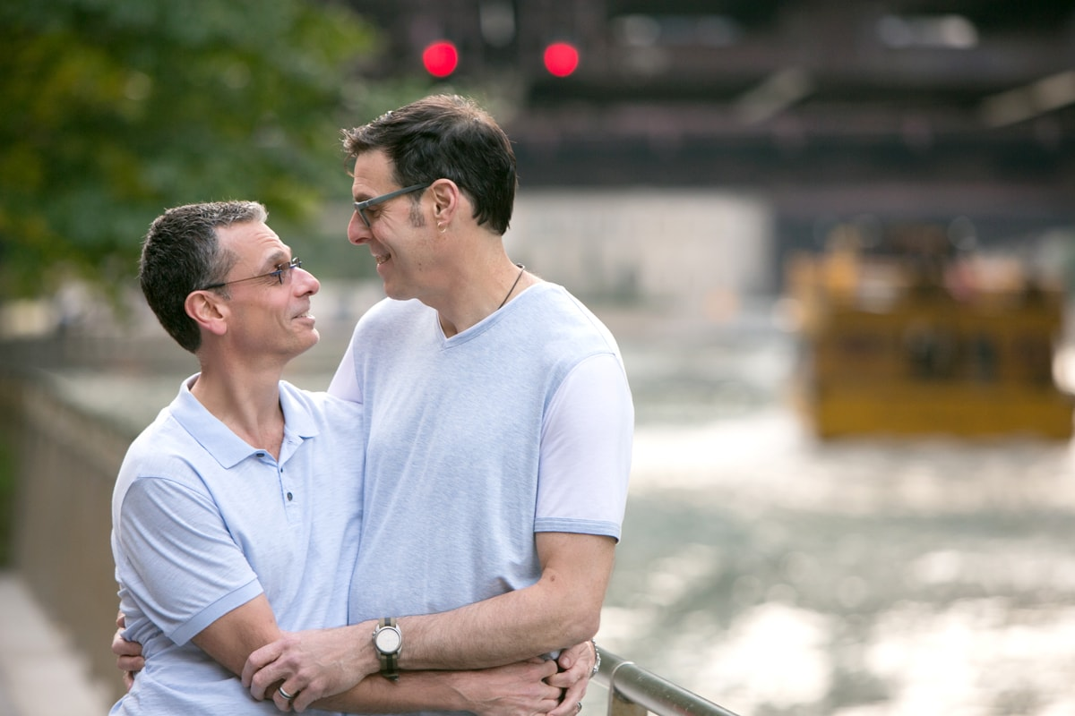 LGBT Engagement Session on Chicago River