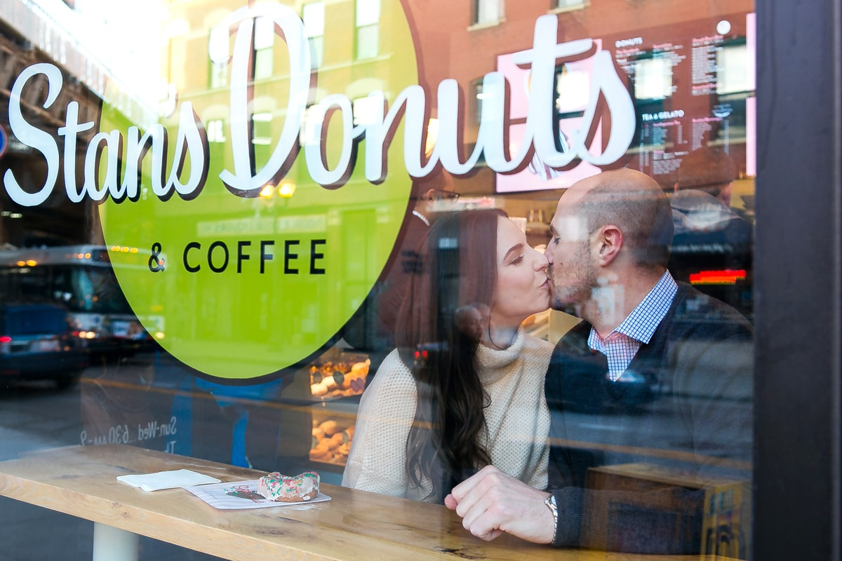 Engagement Session at Donut Shop Chicago