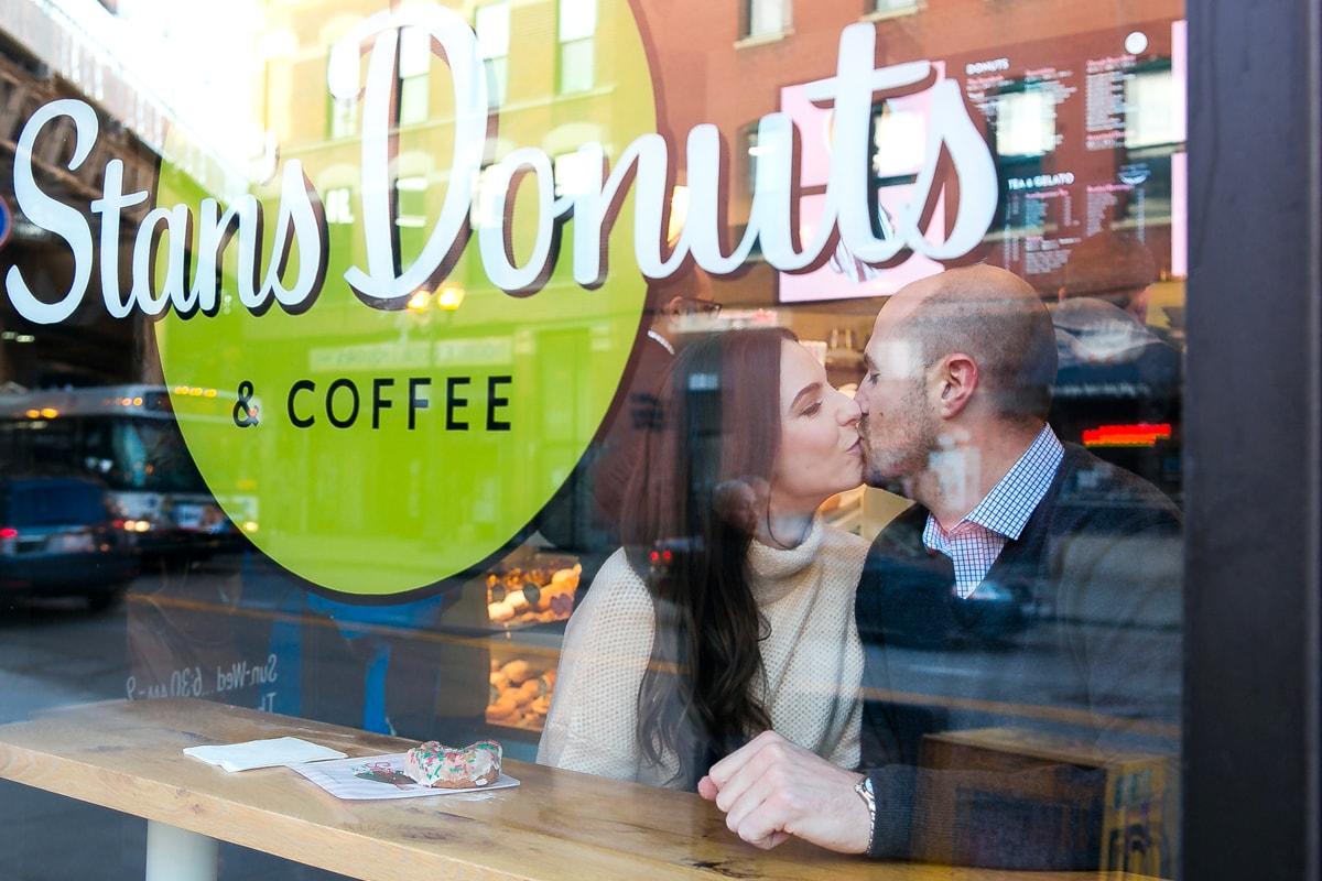 Engagement Session at Donut Shop Chicago