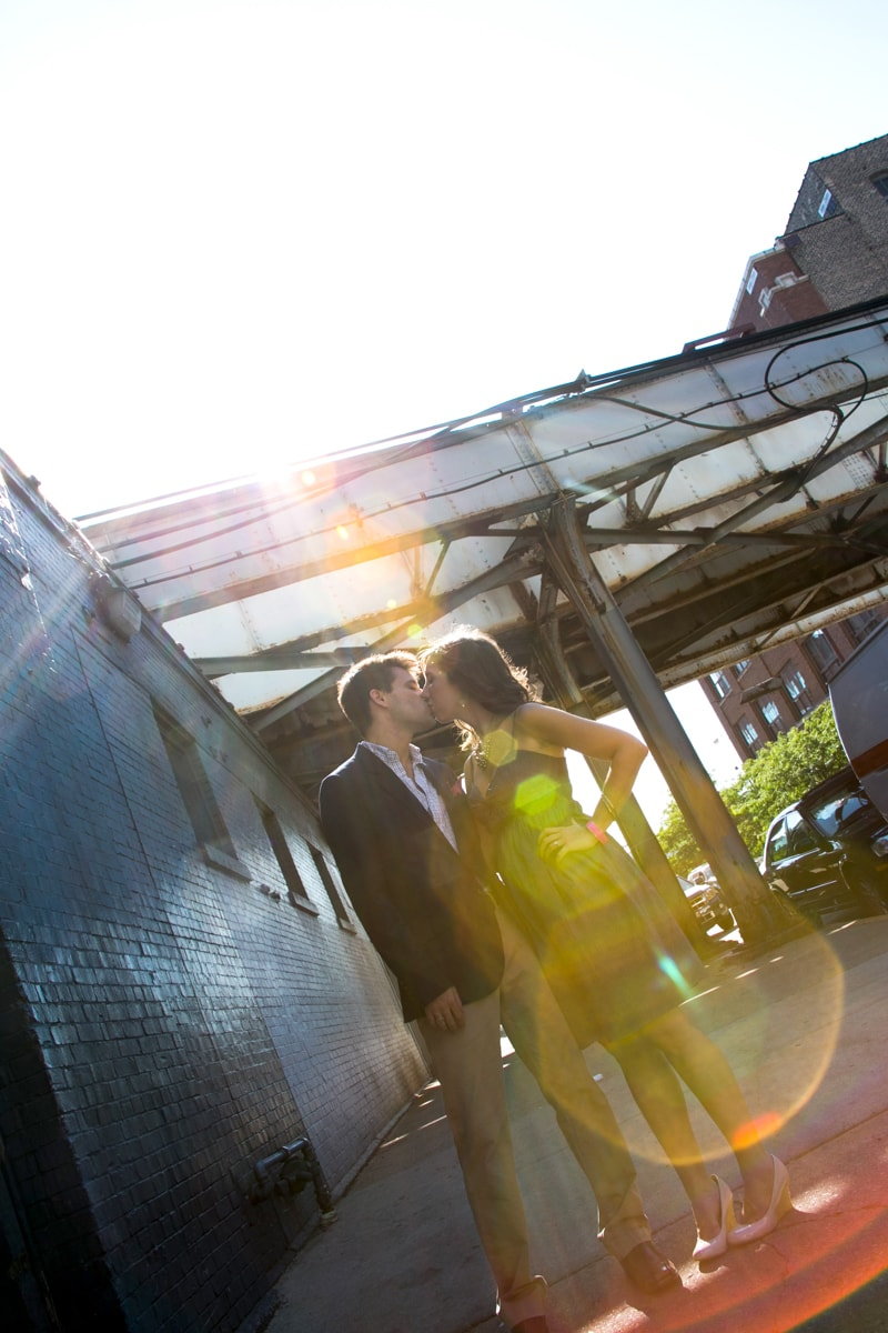 Engagement Session with Chicago's El