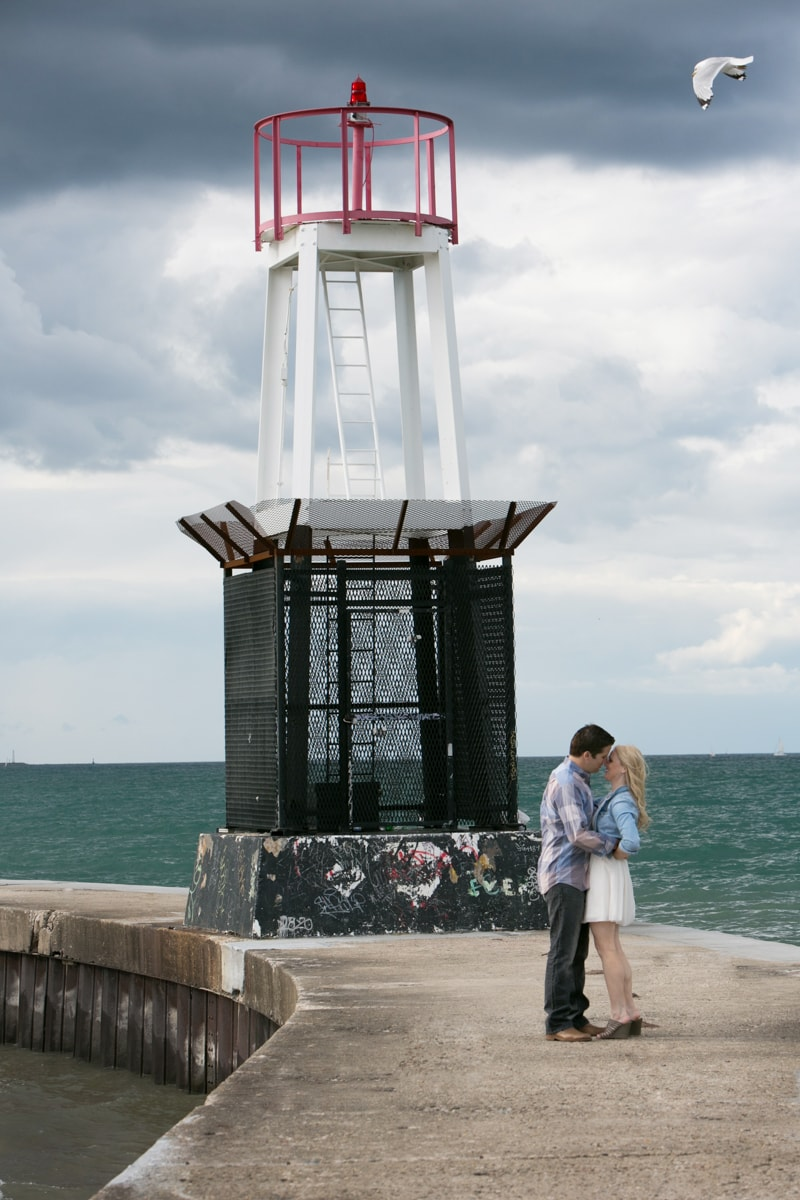 Engagement Session on Lake Michigan Lakefront Chicago