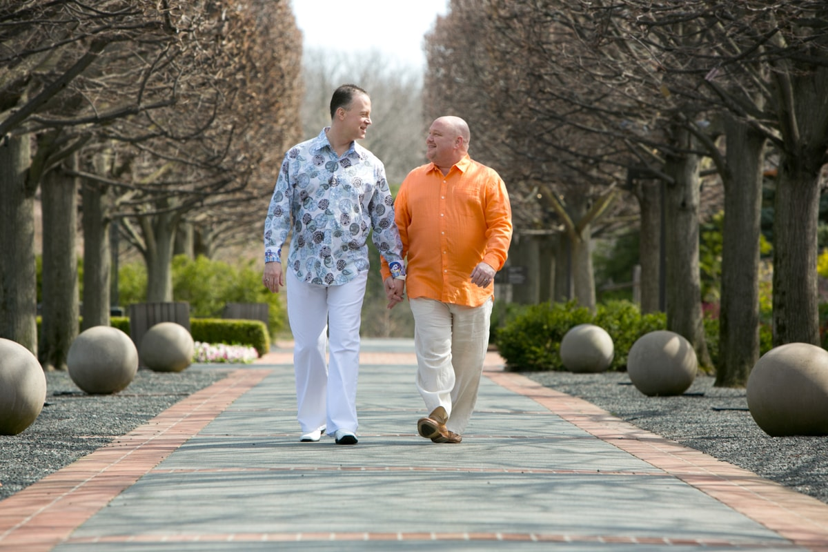 LGBT Engagement Session at Chicago Botanic Gardens