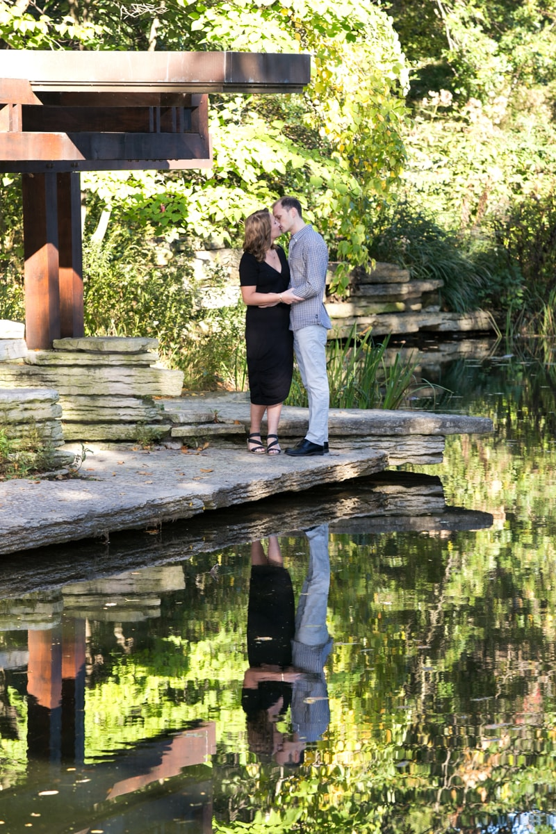 Engagement session at Lily Pond Chicago