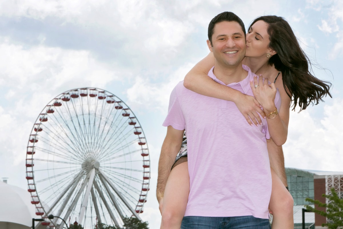 Engagement Session at Navy Pier Chicago