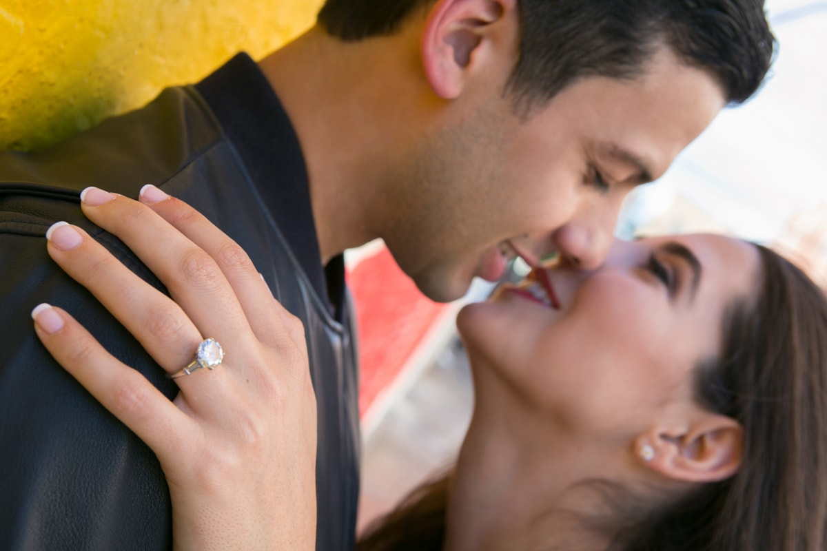 Romantic Engagement Session photo of ring