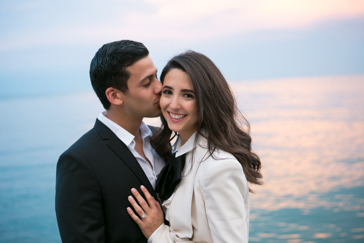 Engagement Session on Chicago Lakefront with sunset
