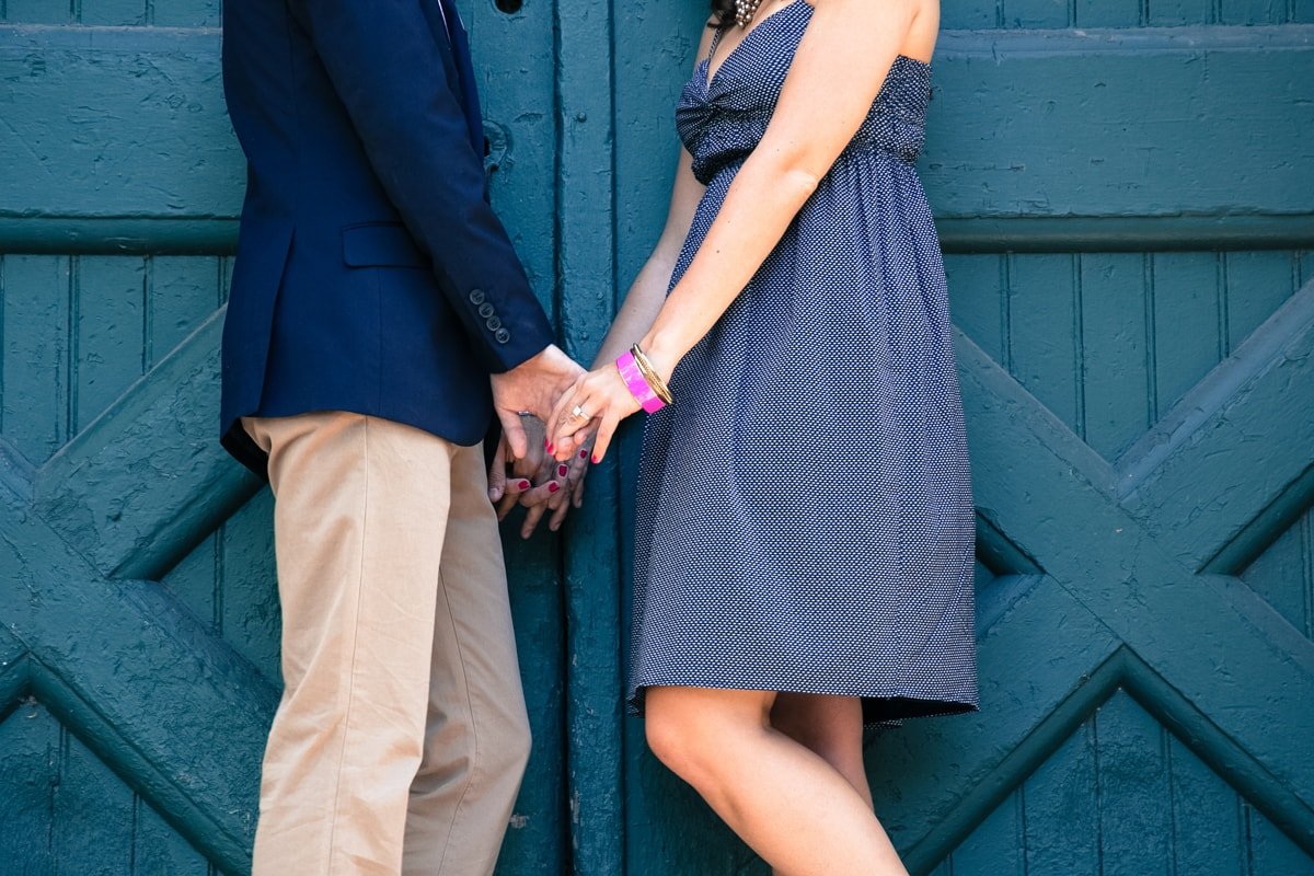 Vignette of Engagement Session