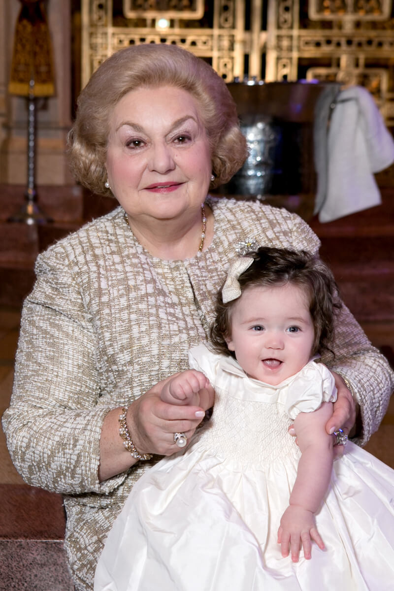 Christening Portrait with grandmother