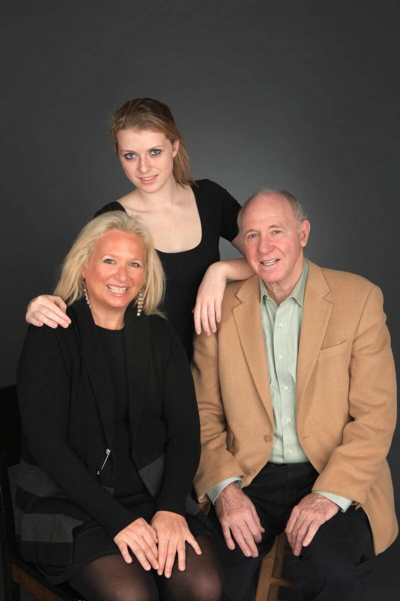 Professional Family Portrait of three
