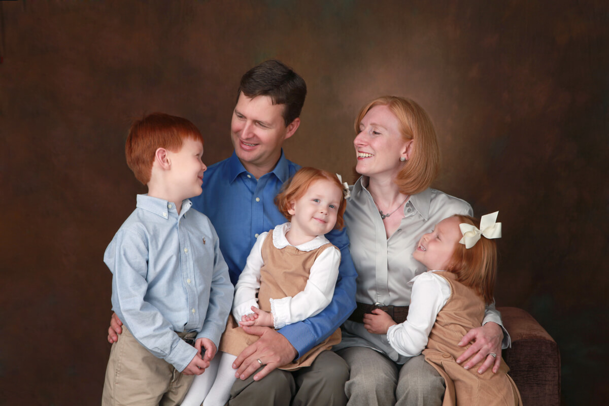 Family of five portrait session