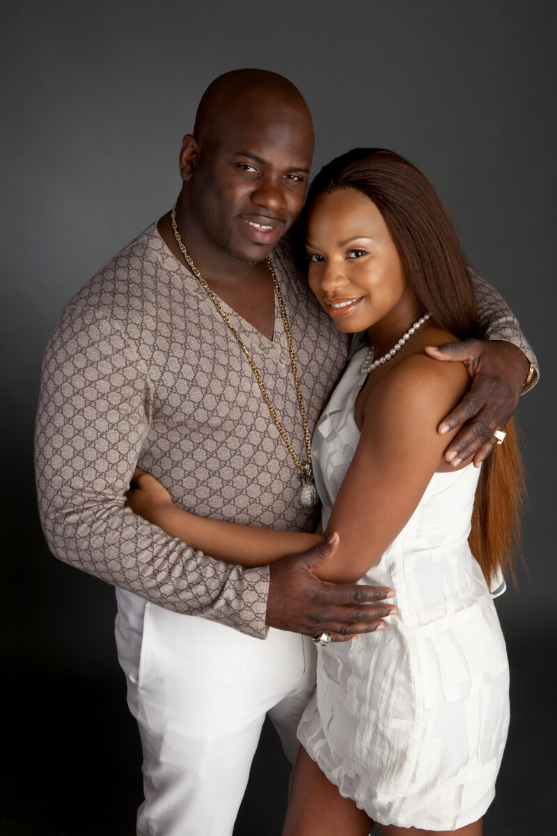 Young couple photographed in studio