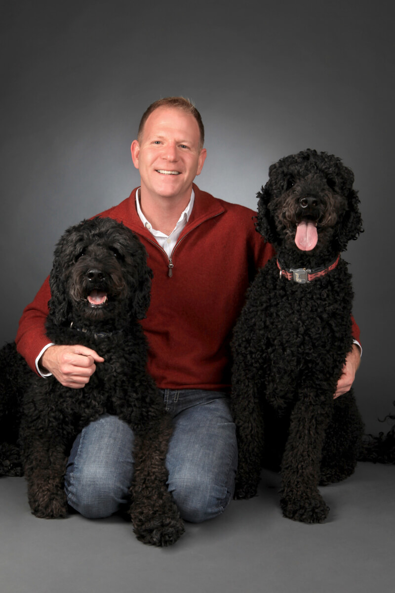 Portrait with two dogs