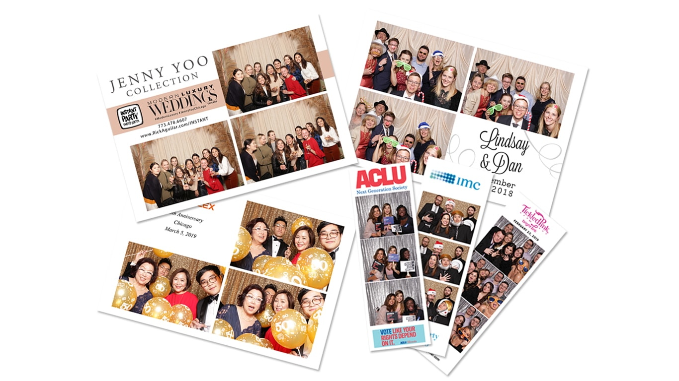 Photo Strip Styles by the Instant Party Photo Booth