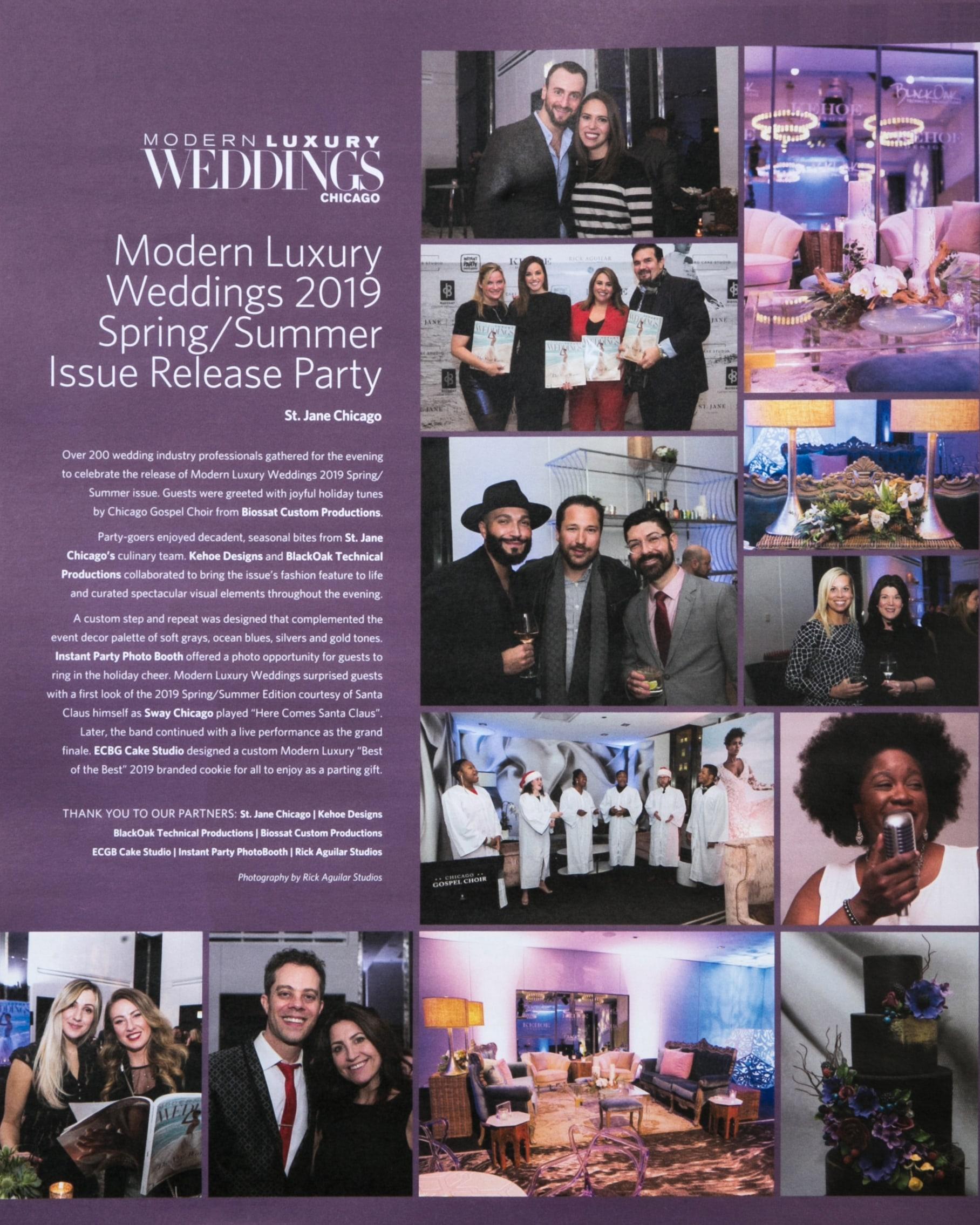 Modern Luxury Weddings Issue Release
