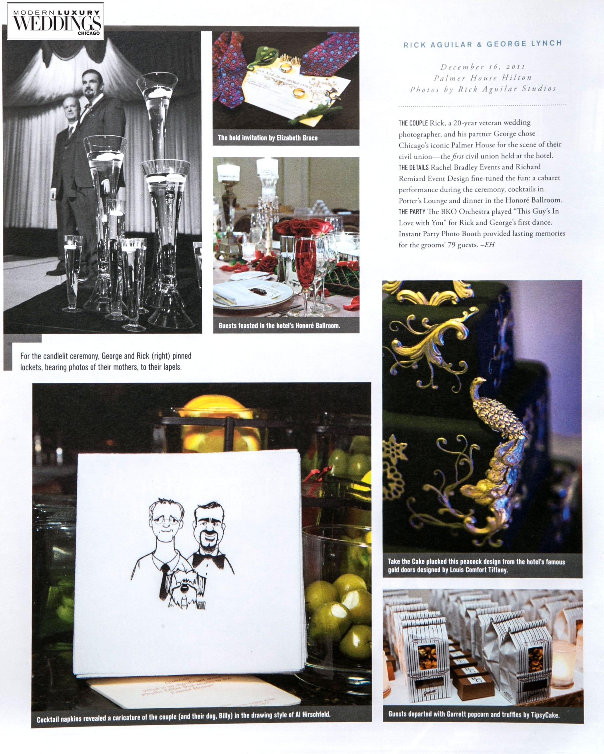 LGBT Real Wedding published in Wedding Magazine