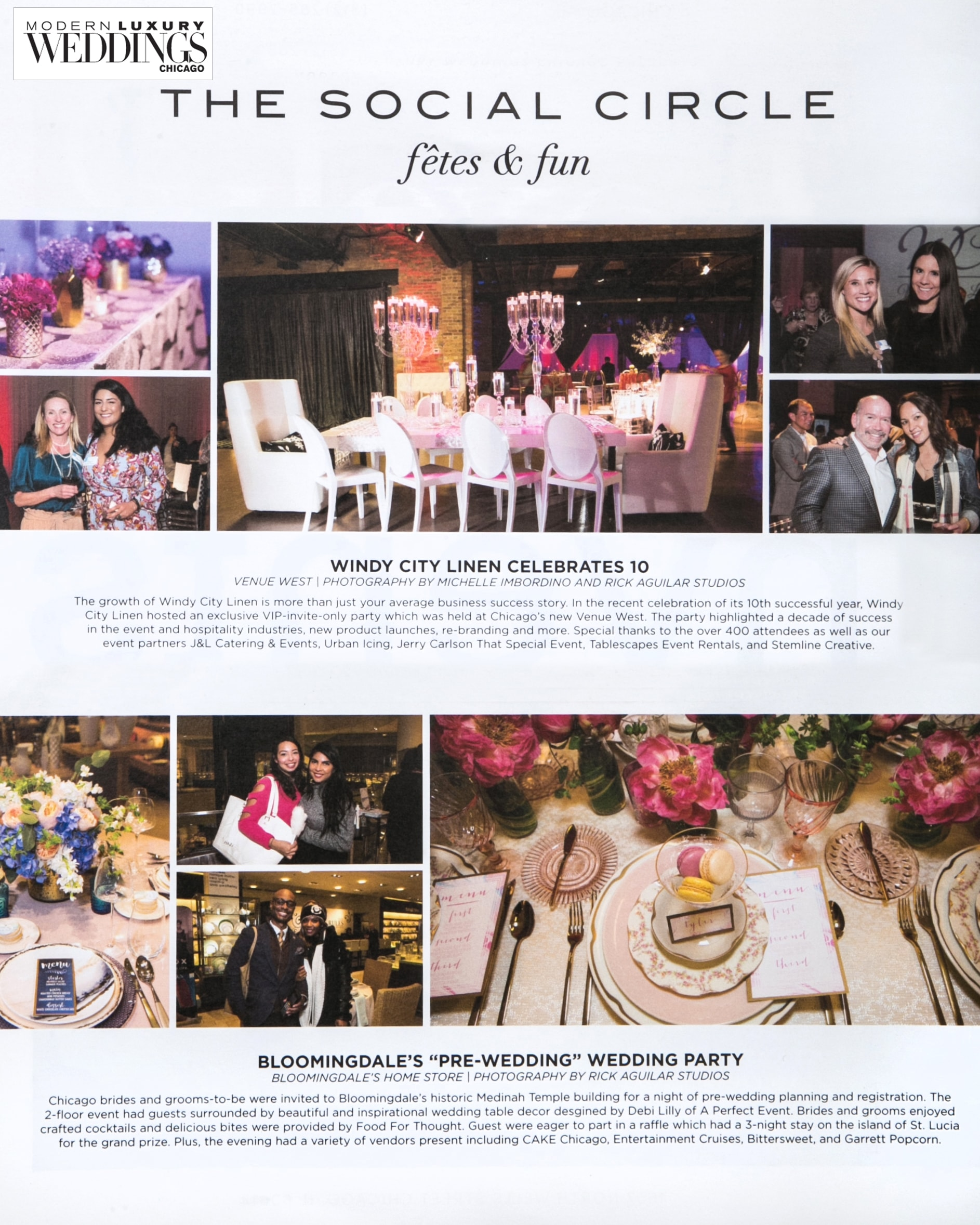 Event Photography for Wedding Magazine