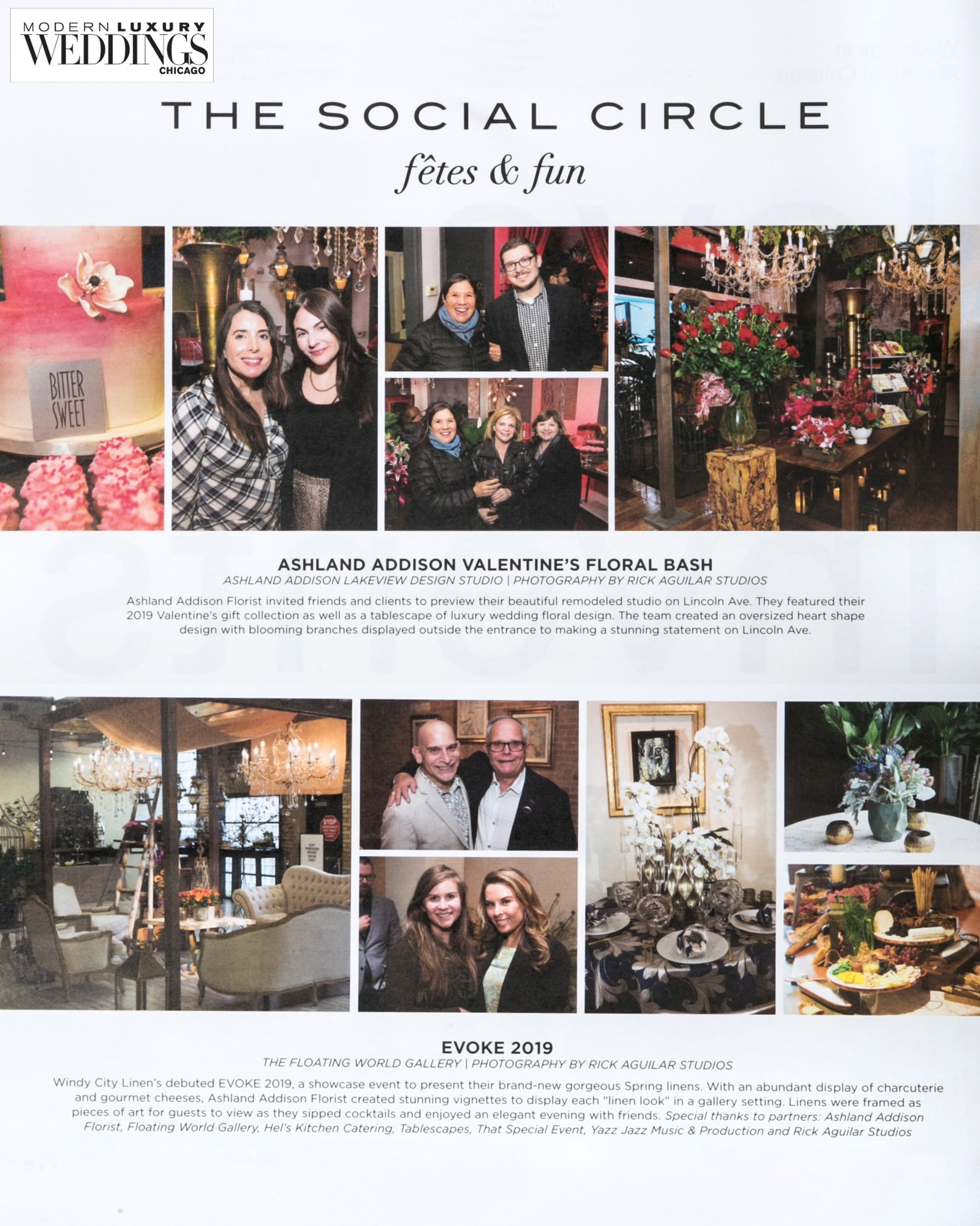 Chicago Event photography published in Modern Luxury Weddings