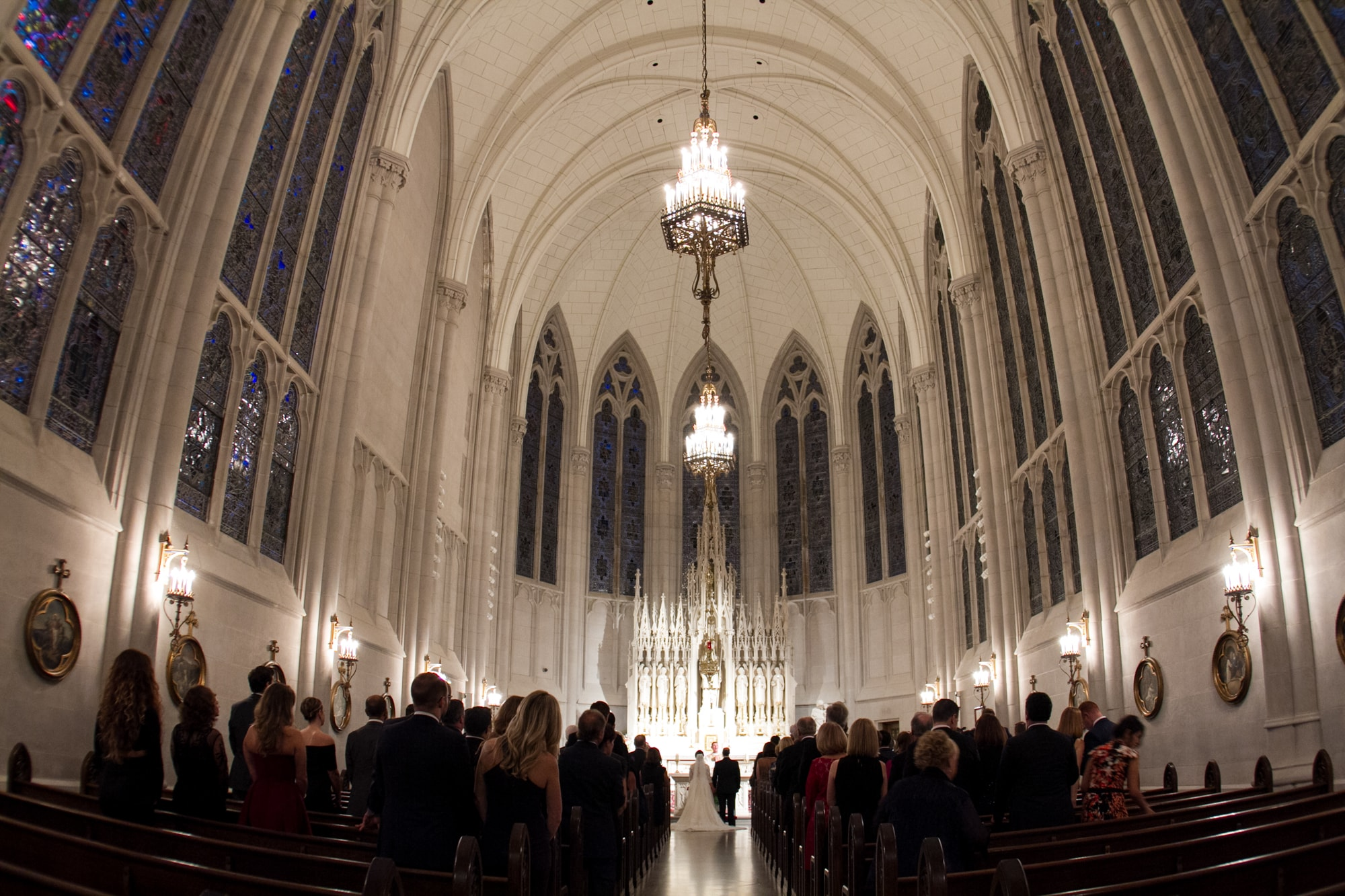 Wedding ceremony at Chicago Cathedral