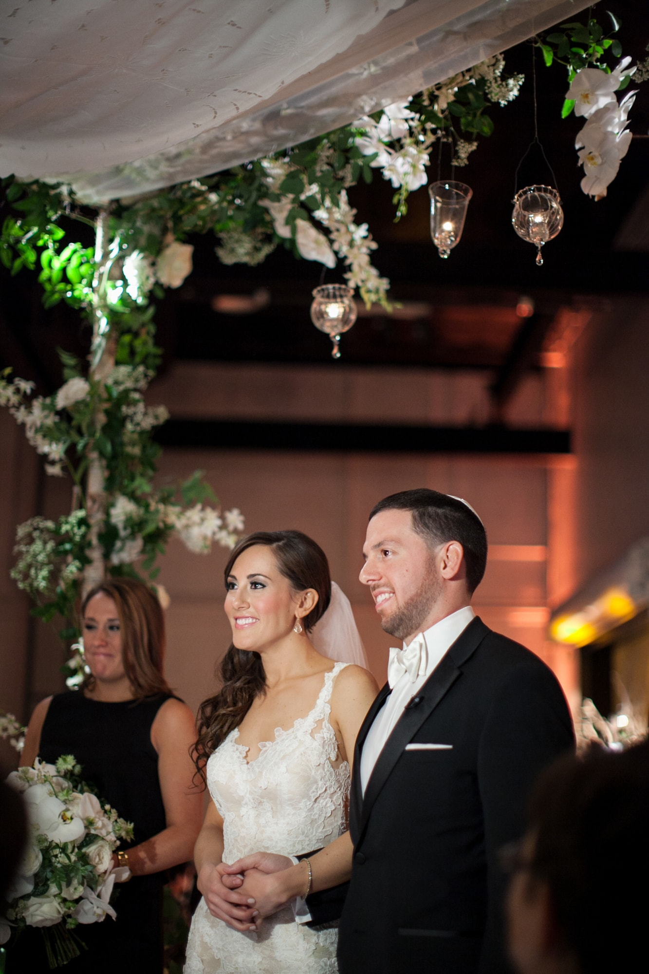 Creative huppa at Jewish Wedding ceremony