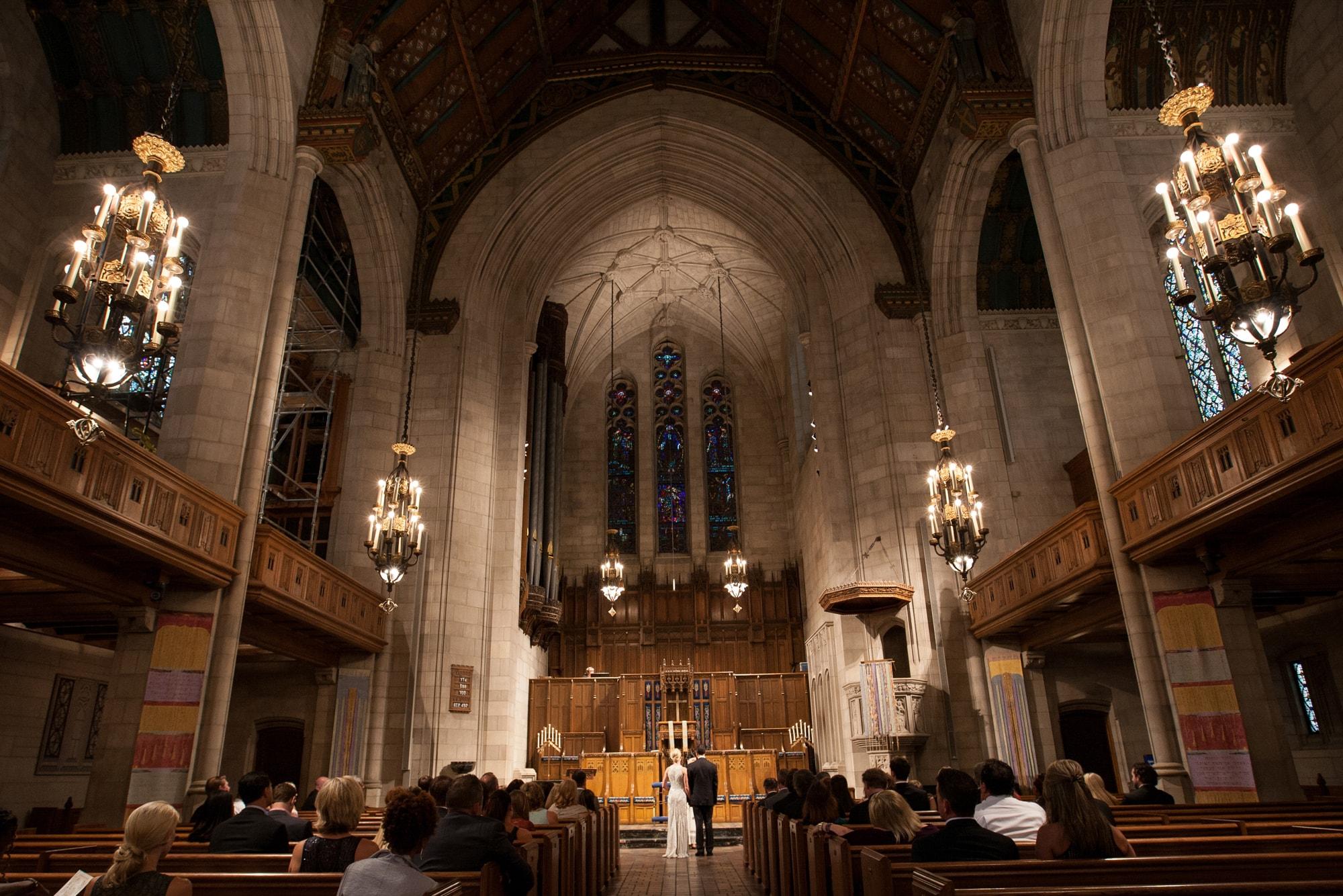Wedding ceremony at Fourth Presbyterian Church Chicago