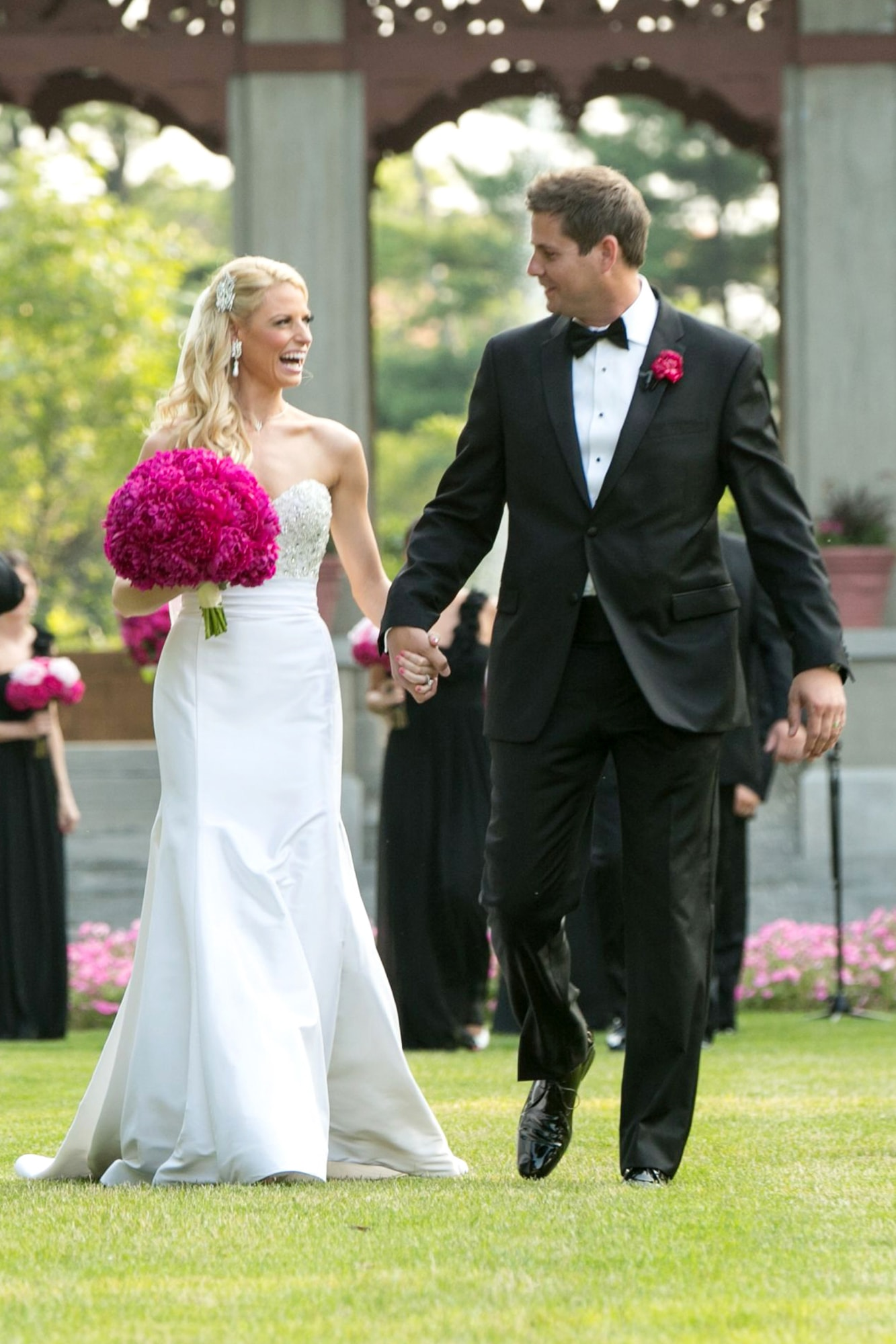 Garden Wedding ceremony at the Armour House Lake Forest