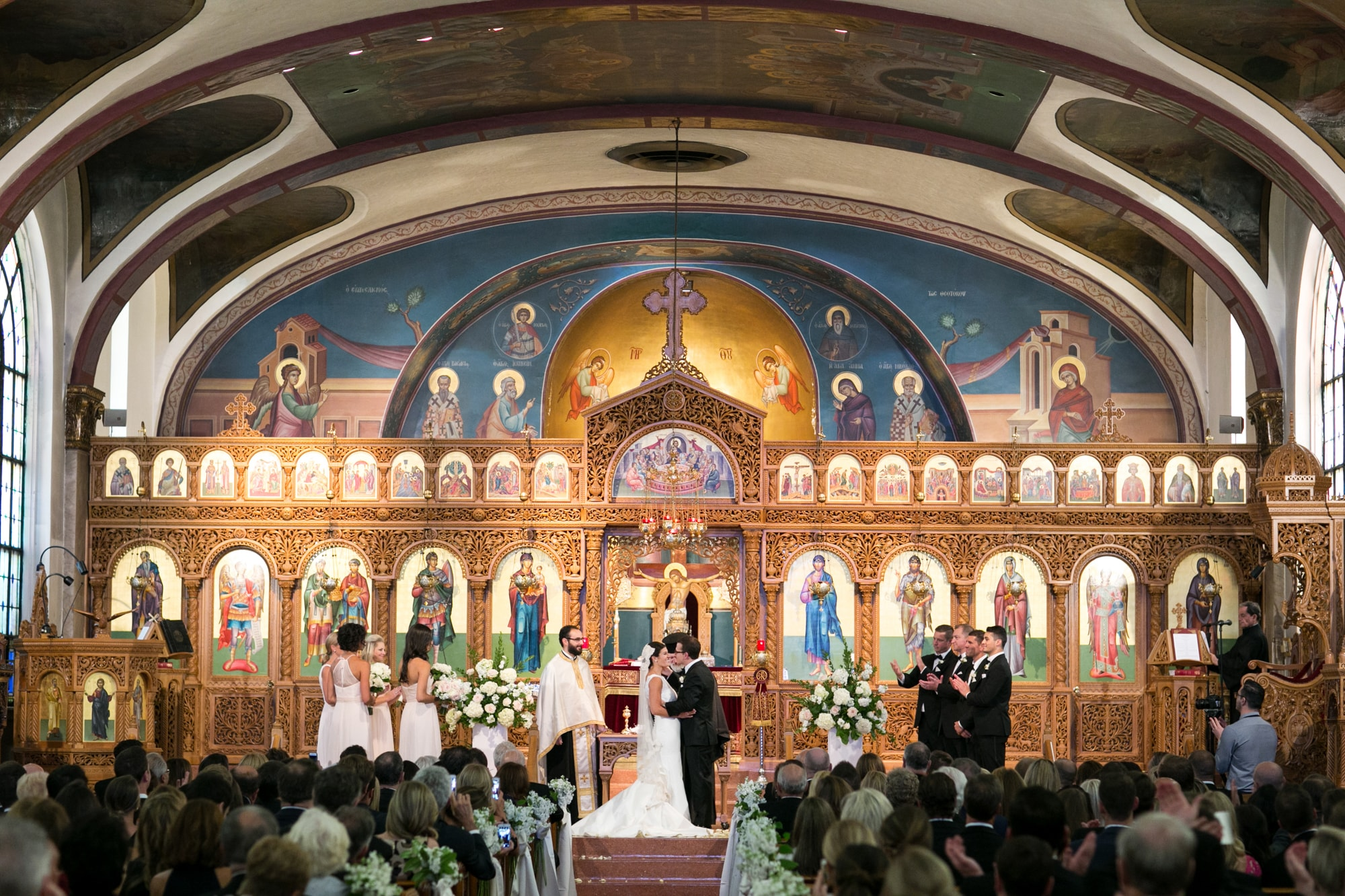 Wedding Ceremony at Greek Cathedral