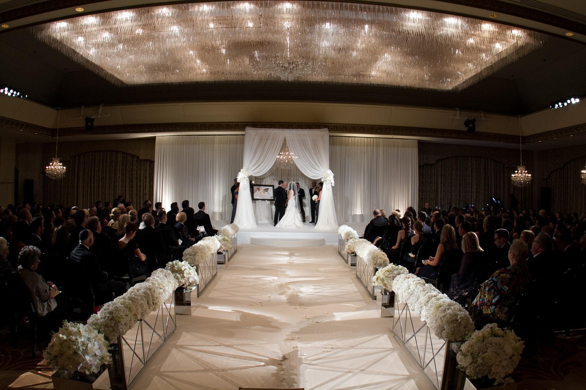 Romantic wedding ceremony at the Ritz Carlton Chicago