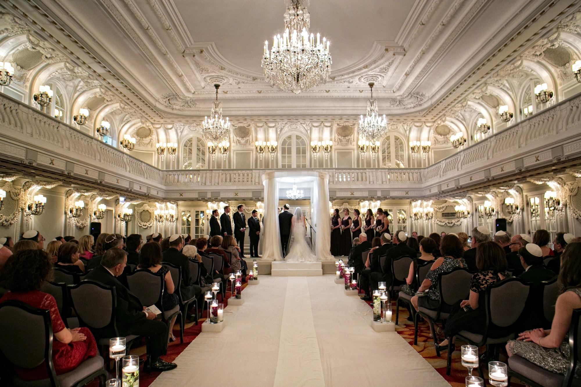 Jewish wedding ceremony at the Drake Hotel Chicago
