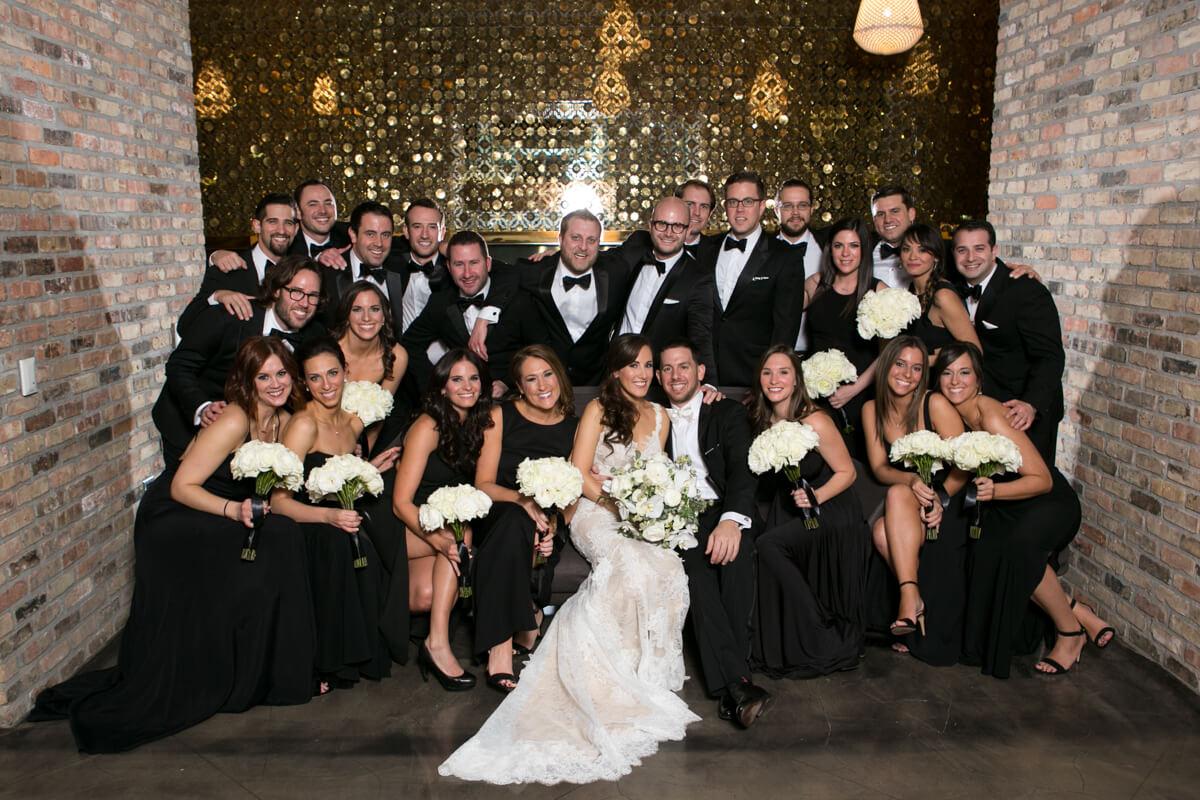 Wedding Party pose at Radisson Blu
