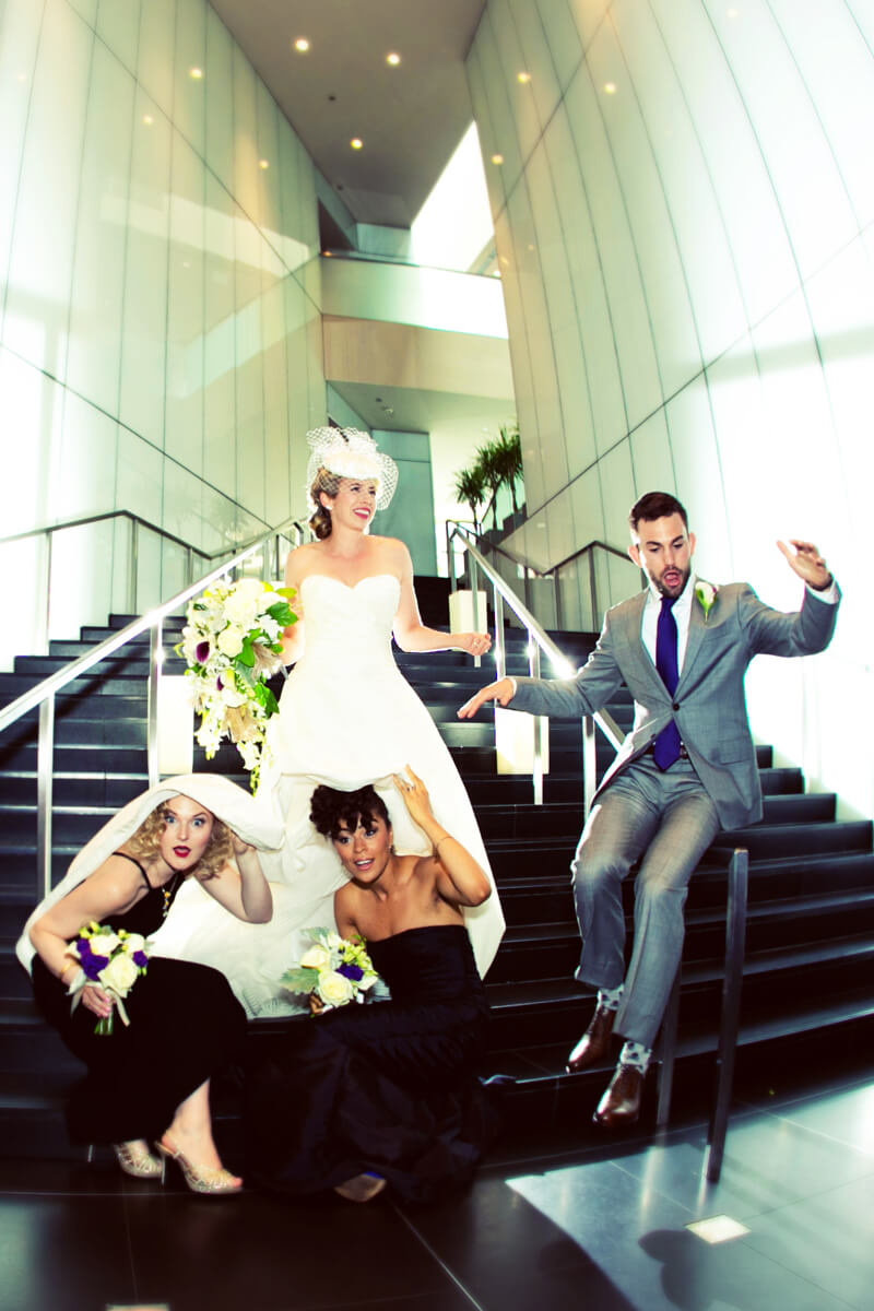 Fun bridal party photo at the Sofitel Chicago