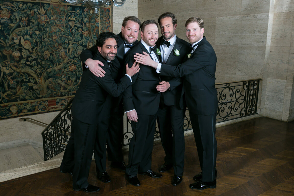 Groomsmen at the Standard Club
