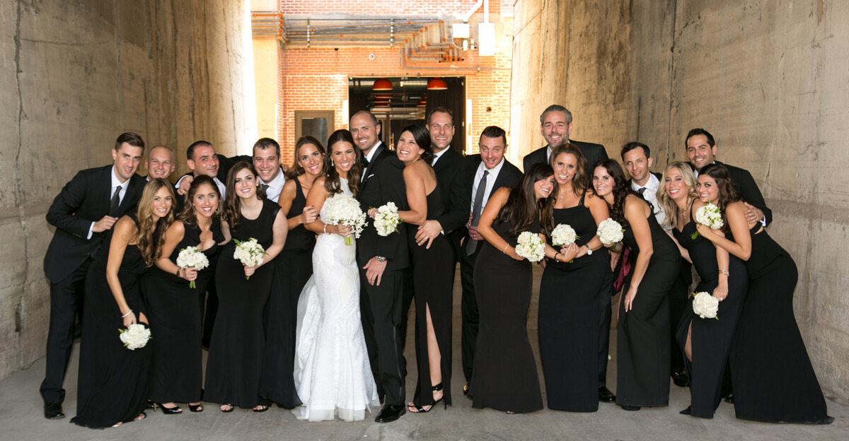 Urban Wedding Party Photo at Chicago's Morgan Manufacturing